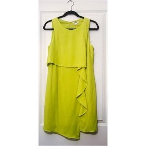 Misses' Lime Green Multi-Layer Sheath Dress